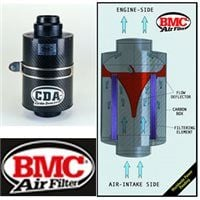BMC Carbon Dynamic Airbox (CDA) - UNIVERSAL APPLICATIONS 70-130 Universal SILVER