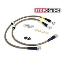 FRONT Stoptech Stainless Brake Lines SUBARU Impreza 5dr GHB/GRB 2008 -