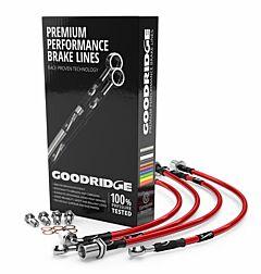 3 Line Plated Goodridge Braided Brake Hose Kit ALFA ROMEO 33 1.3/1.3TC 1983-1987 (SAR0400-3P_2)