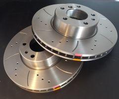 BM Racing Discs FRONT pair ABARTH GRANDE PUNTO 1.4 Turbo 08- 155-180HP 305mm