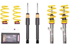 KW VARIANT 1 INOX Coilovers AUDI S2; (89Q) coupe; 4WD; screw M14 Front+RA-susp strut 09/90-12/96 (10210014_566)