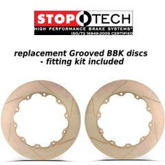 Stoptech Big Brake Kit replacement discs 345mm x 28mm Slotted Zinc Coat Discs