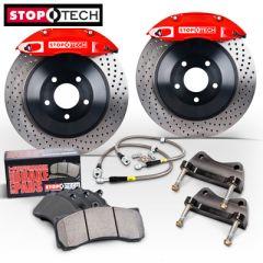 FRONT STOPTECH Touring Big Brake Kit SEAT LEON - 328mm x28 ST40 - 4 pot (83.886.4300.73_59)
