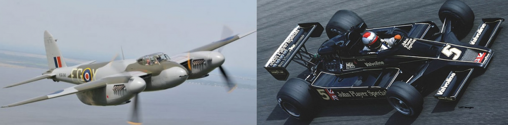 What do a de Havilland Mosquito & a Lotus 78 have in common?
