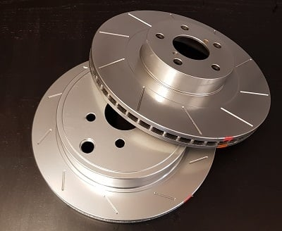 BM RACING DISCS GROOVED WITH SILVER COATING