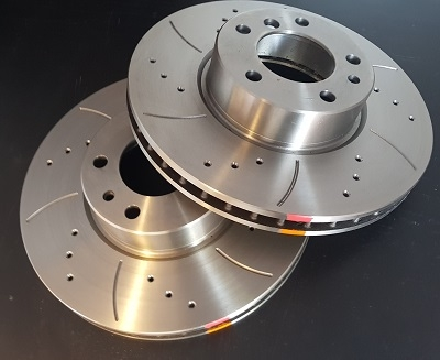 BM RACING DISCS DRILLED & GROOVED CAST IRON