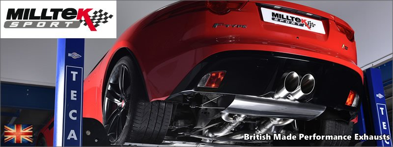 Milltek Sport Exhausts - British Made - Jaguar F Type