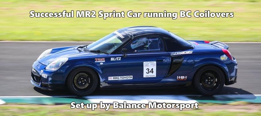 Toyota MR2 Running BC Racing Coilovers - set up by Balance Motorsport