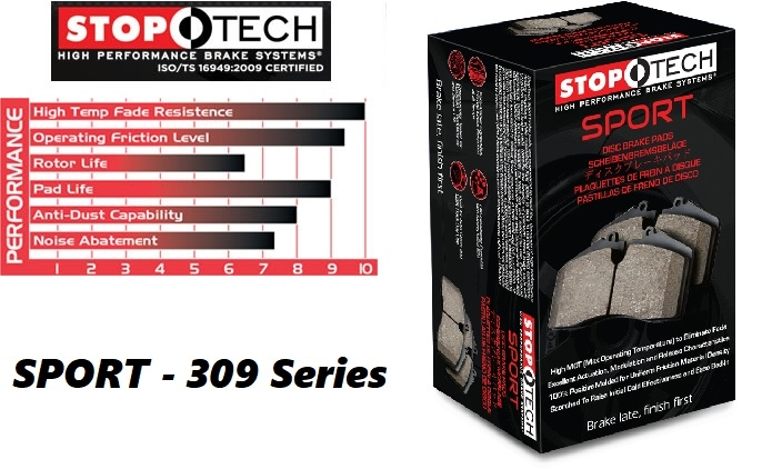 Stoptech Sport 309 Series Performance Brake Pads