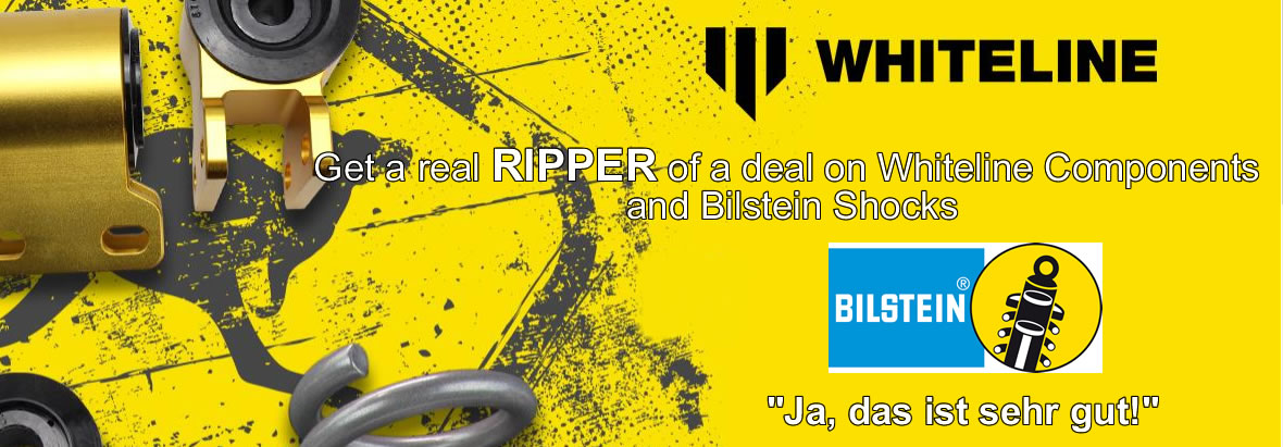 Get a real RIPPER of a deal on Whiteline Components and Bilstein Shocks